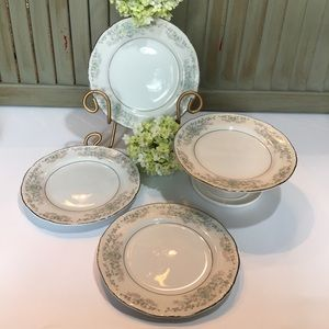 Vintage Dining - Norleans China Theresa Bread & Butter Plates (4)
